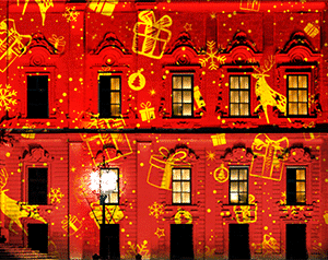 Christmas dynamic effects for projectors