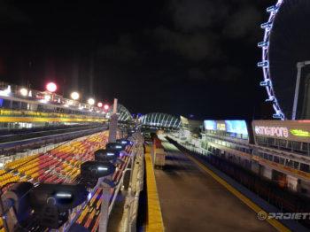 Singapore 2017 proiettori per il gran premio di Formula 1