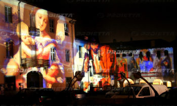 sacred images projections on big facades