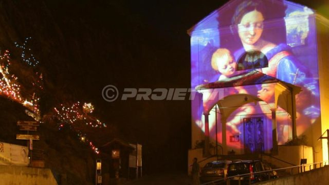 church_Virgin Mary projection