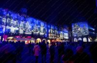 Proiezione bosco incantato Piazza Duomo a Como