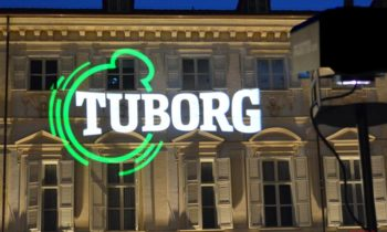 Tuborg logo projection