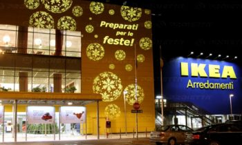 Christmas projections for malls - Ikea Arredamenti