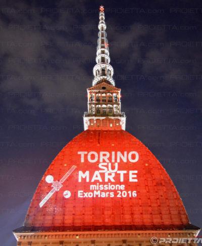 Proiezione sulla Mole Antonelliana