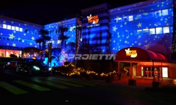 Christmas themed decorative projections