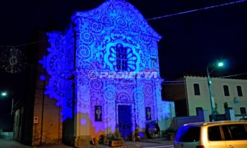 decorative projections to cover with light the facedes of the churches