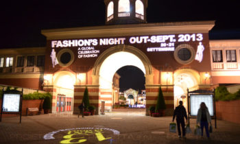 Serravalle Outlet Village Fashion Night scenographic projections for advertising