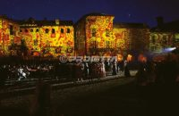 medieval themed pictorial decorative projections