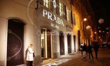 Projection for Prada store in Torino