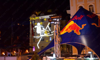 Red Bull Play Street projections for advertising
