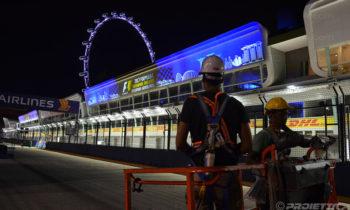 F1 gran prix in Singapore