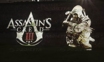 Lucca Comics Assassin's Creed logo projection