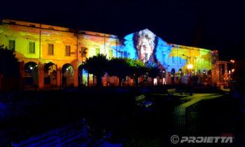 Projection du portrait de Giorgio Oprandi à Lovere