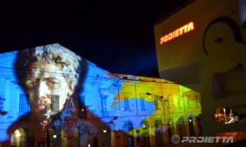 Projection d'œuvres d'art à Lovere