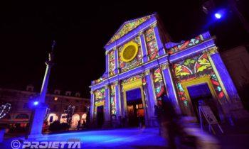 Giaveno: videomapping sulla chiesa di San Lorenzo